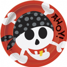 8 Pirate Fun Paper Party Plates